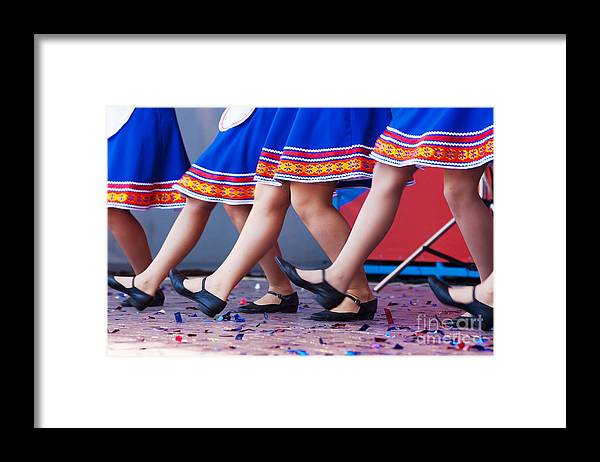 Dress Framed Print featuring the photograph Russian Girls In Traditional Costumes by Radomir