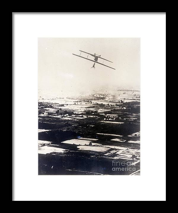 Hanging Framed Print featuring the photograph Ruth Law Performs Aerial Stunt by Bettmann