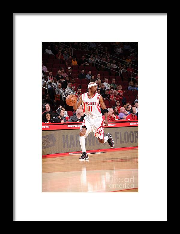 People Framed Print featuring the photograph Sacramento Kings V Houston Rockets by Bill Baptist