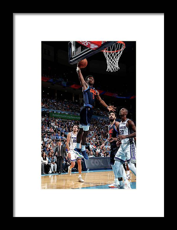 Nba Pro Basketball Framed Print featuring the photograph Sacramento Kings V Oklahoma City Thunder by Joe Murphy