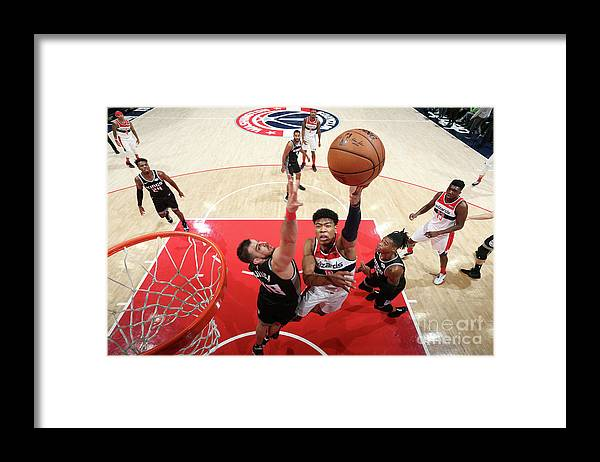 Nba Pro Basketball Framed Print featuring the photograph Sacramento Kings V Washington Wizards by Stephen Gosling