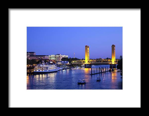 Scenics Framed Print featuring the photograph Sacramento River And Tower Bridge At by Picturelake