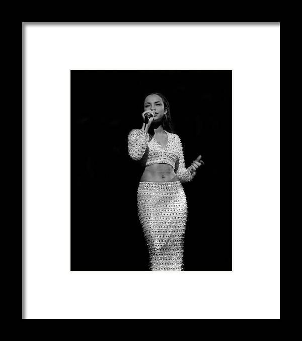 Artist Framed Print featuring the photograph Sade Live In Rosemont, Illinois by Raymond Boyd