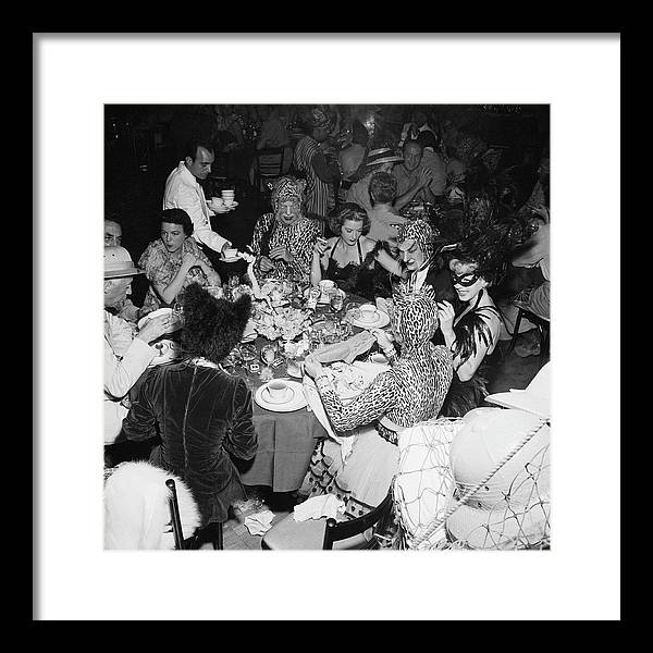 1950-1959 Framed Print featuring the photograph Safari Party by Slim Aarons