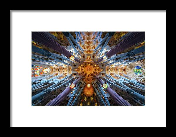 Barcelona Framed Print featuring the photograph Sagrada by Juan Pablo De