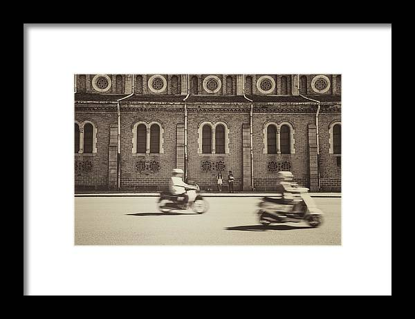 Ho Chi Minh City Framed Print featuring the photograph Saigon Old Corner by Jethuynh