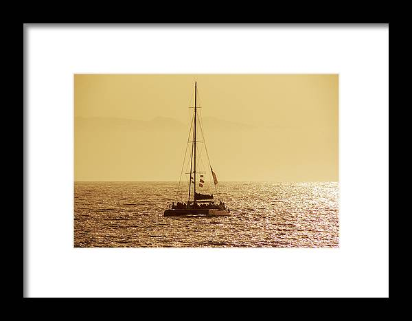 Sailing Framed Print featuring the photograph Sailing In The Sunlight by Sun Travels