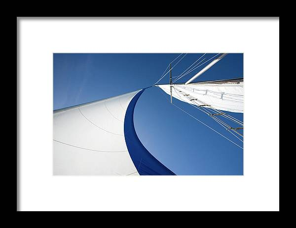 Curve Framed Print featuring the photograph Sailing by Tammy616