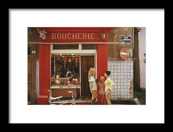 Child Framed Print featuring the photograph Saint-tropez Boucherie by Slim Aarons