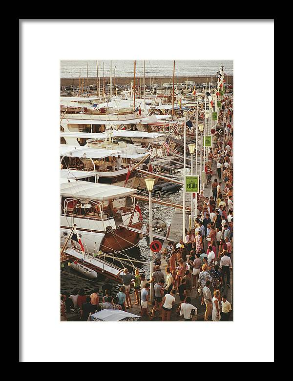 Water's Edge Framed Print featuring the photograph Saint-tropez Seafront by Slim Aarons