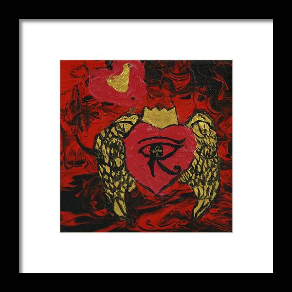 Abstract Framed Print featuring the painting Salavtion by Sonye Locksmith