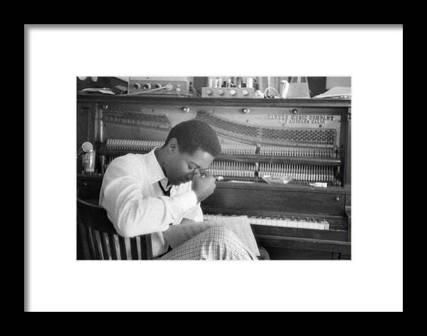 People Framed Print featuring the photograph Sam Cooke At The Piano by Michael Ochs Archives