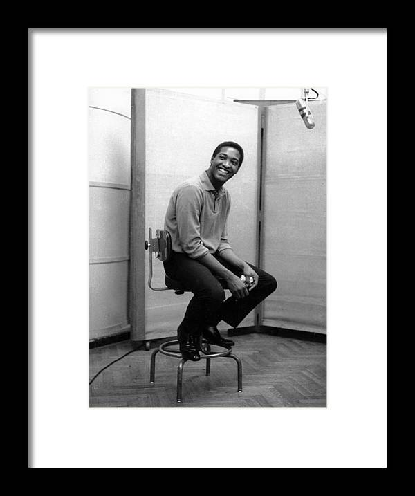 Sam Cooke - Singer Framed Print featuring the photograph Sam Cooke In The Studio by Michael Ochs Archives