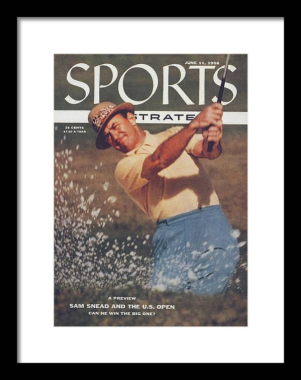 Magazine Cover Framed Print featuring the photograph Sam Snead, Golf Sports Illustrated Cover by Sports Illustrated