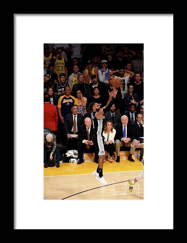 Nba Pro Basketball Framed Print featuring the photograph San Antonio Spurs V Los Angeles Lakers by Adam Pantozzi