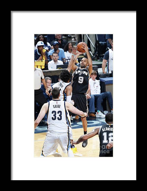 Playoffs Framed Print featuring the photograph San Antonio Spurs V Memphis Grizzlies - by Joe Robbins