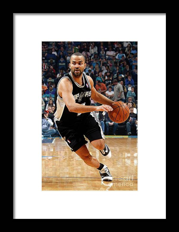 Smoothie King Center Framed Print featuring the photograph San Antonio Spurs V New Orleans Hornets by Layne Murdoch