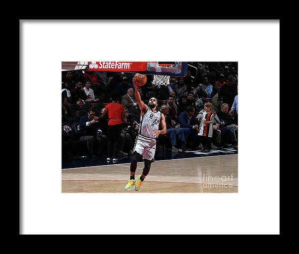 Nba Pro Basketball Framed Print featuring the photograph San Antonio Spurs V Washington Wizards by Stephen Gosling