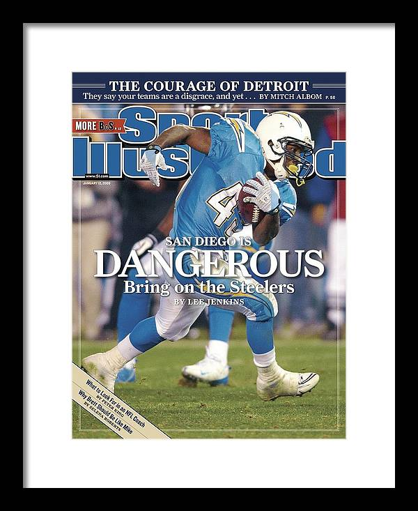 Playoffs Framed Print featuring the photograph San Diego Chargers Darren Sproles, 2009 Afc Wild Card Sports Illustrated Cover by Sports Illustrated