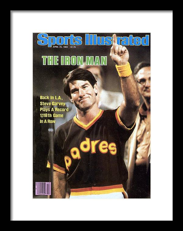 Magazine Cover Framed Print featuring the photograph San Diego Padres Steve Garvey Sports Illustrated Cover by Sports Illustrated