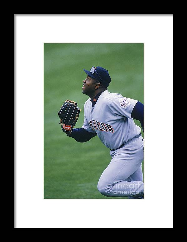 People Framed Print featuring the photograph San Diego Padres V Chicago Cubs by John Reid Iii