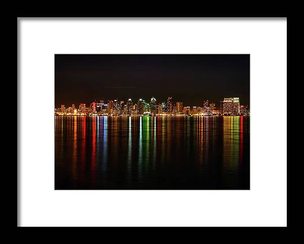 California Framed Print featuring the photograph San Diego Skyline From Harbor Island by David Toussaint