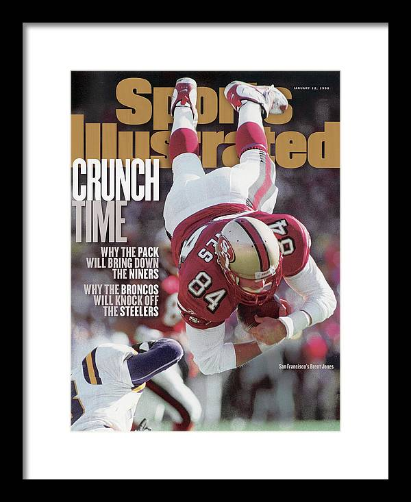 Candlestick Park Framed Print featuring the photograph San Francisco 49ers Brent Jones, 1998 Nfc Divisional Sports Illustrated Cover by Sports Illustrated