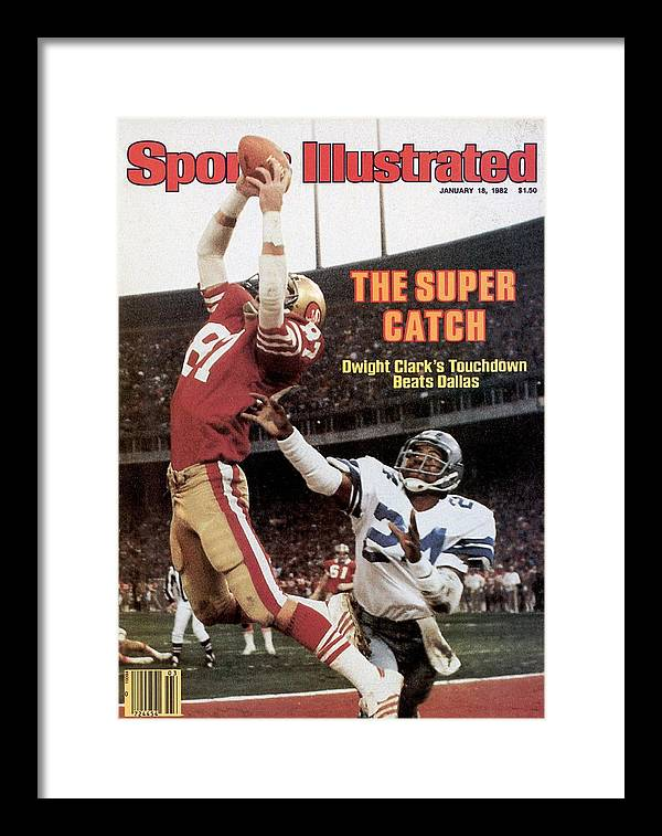 Candlestick Park Framed Print featuring the photograph San Francisco 49ers Dwight Clark, 1982 Nfc Championship by Sports Illustrated Cover