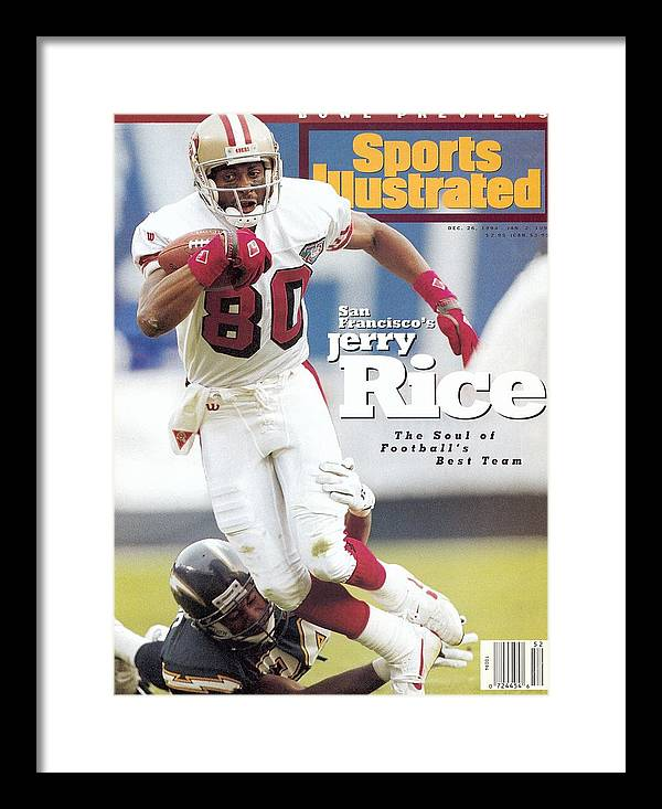 San Francisco 49ers Jerry Rice Sports Illustrated Cover Framed Print By Sports Illustrated