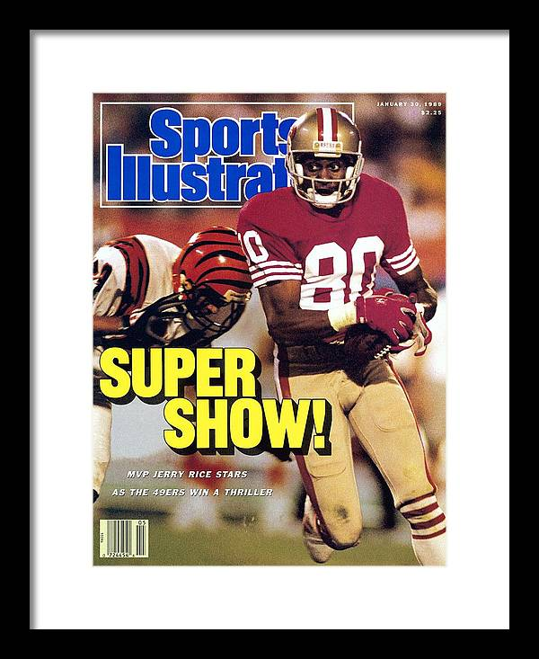 Magazine Cover Framed Print featuring the photograph San Francisco 49ers Jerry Rice, Super Bowl Xxiii Sports Illustrated Cover by Sports Illustrated
