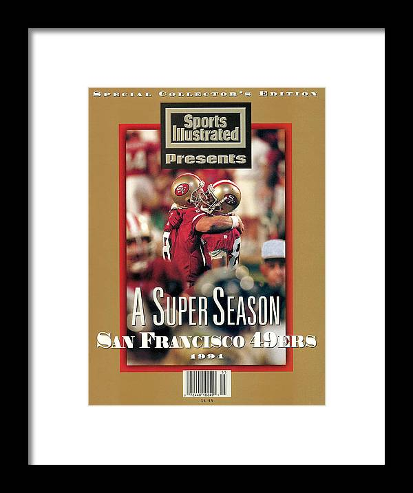 Celebration Framed Print featuring the photograph San Francisco 49ers Jerry Rice, Super Bowl Xxix Sports Illustrated Cover by Sports Illustrated