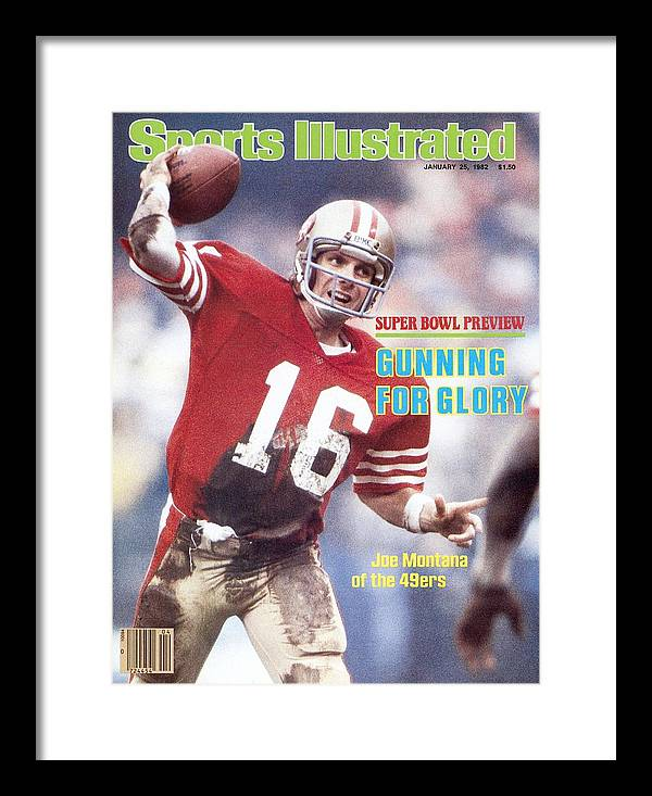 Candlestick Park Framed Print featuring the photograph San Francisco 49ers Qb Joe Montana... Sports Illustrated Cover by Sports Illustrated