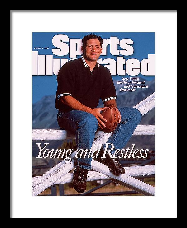 Magazine Cover Framed Print featuring the photograph San Francisco 49ers Qb Steve Young Sports Illustrated Cover by Sports Illustrated