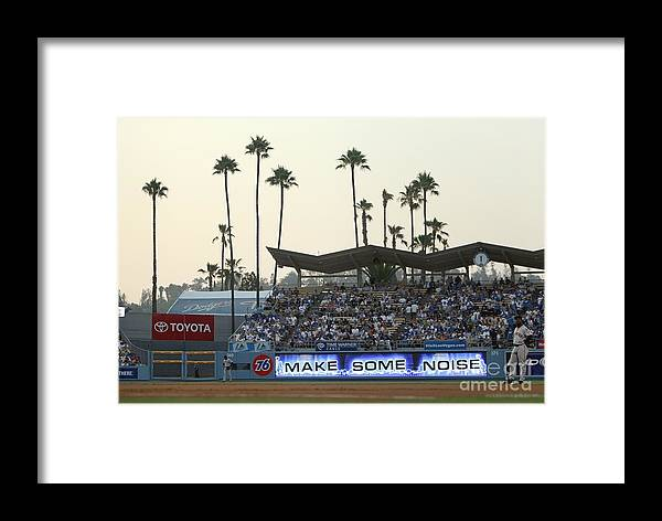 California Framed Print featuring the photograph San Francisco Giants V Los Angeles by Jed Jacobsohn