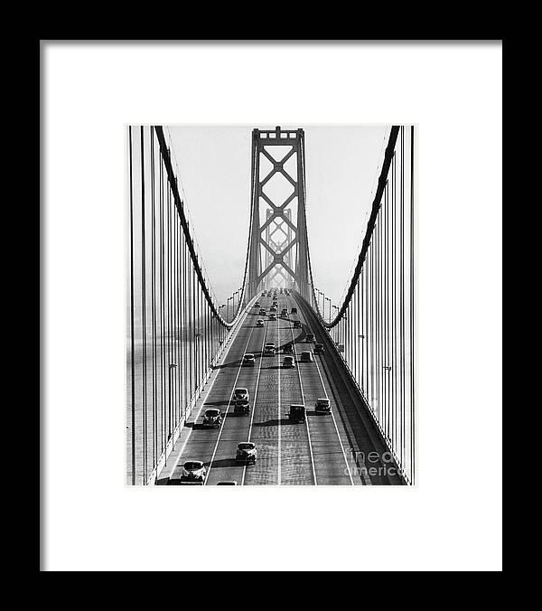Civil Engineering Framed Print featuring the photograph San Francisco-oakland Bay Bridge by Bettmann