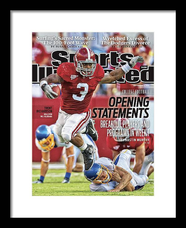 Sports Illustrated Framed Print featuring the photograph San Jose State V Alabama Sports Illustrated Cover by Sports Illustrated