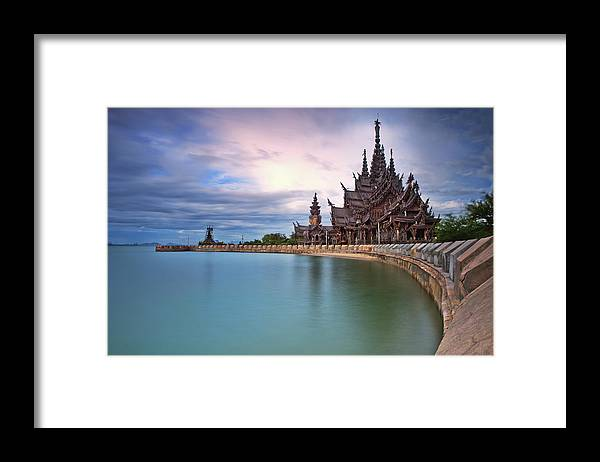 Tranquility Framed Print featuring the photograph Sanctuary Of Truth by Nutexzles