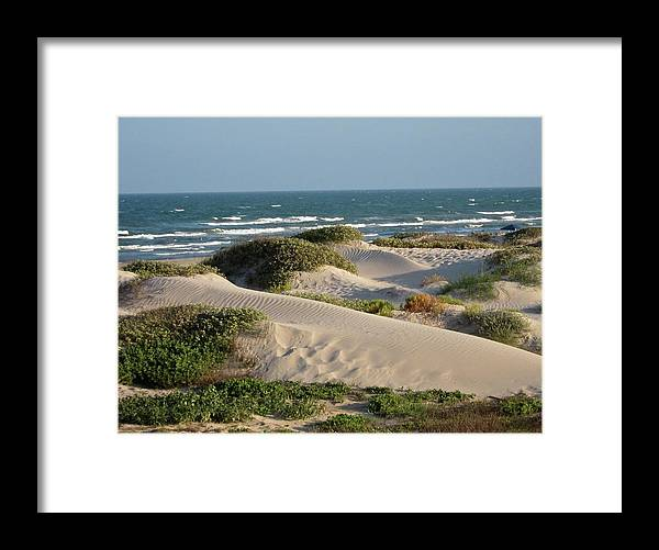 Tranquility Framed Print featuring the photograph Sand Dunes by Joe M. O'connell