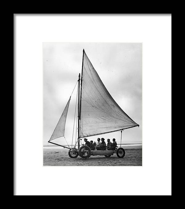 Skegness Framed Print featuring the photograph Sand Yachting by Fox Photos