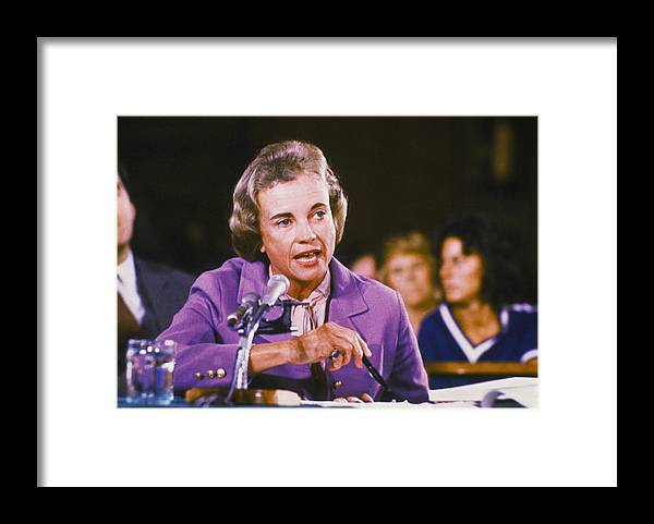 1980-1989 Framed Print featuring the photograph Sandra Day Oconnor by Keystone
