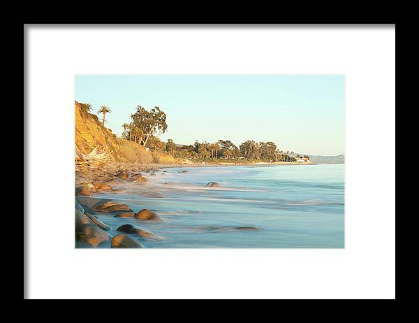 Water's Edge Framed Print featuring the photograph Santa Barbara by Andrewhelwich