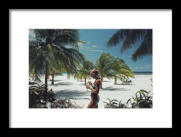 Three Quarter Length Framed Print featuring the photograph Sarah Marson Williams by Slim Aarons