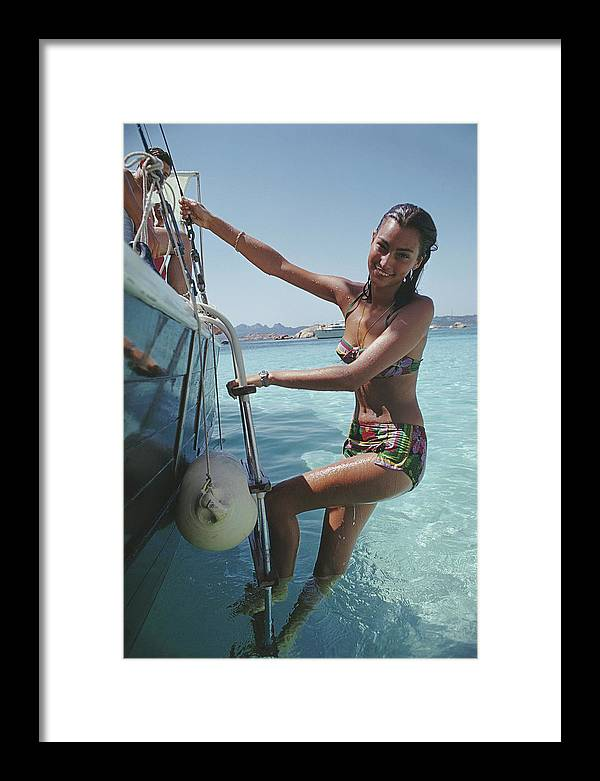 Costa Smeralda Framed Print featuring the photograph Sardinian Holiday by Slim Aarons