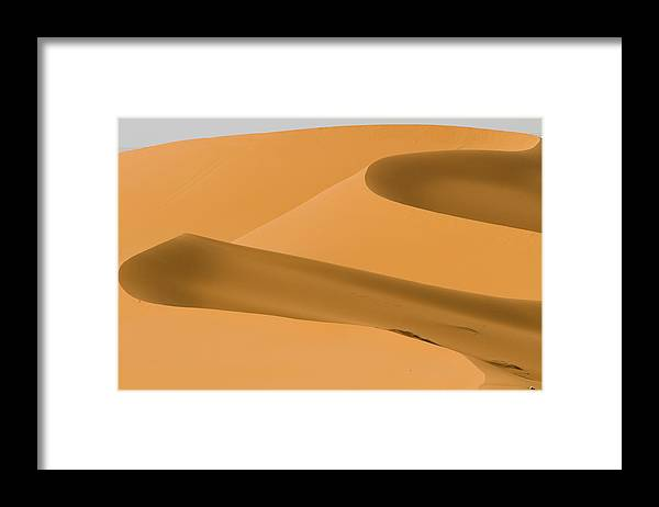 Scenics Framed Print featuring the photograph Saudi Sand Dune by Universal Stopping Point Photography