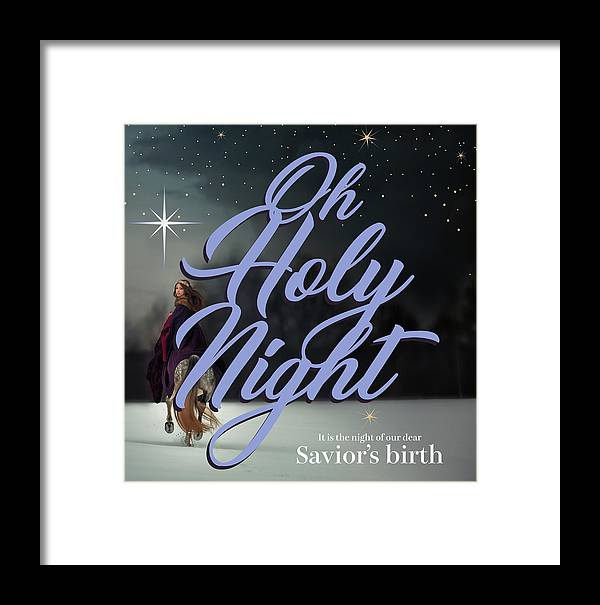 Oh Holy Night Framed Print featuring the digital art Savior's Birth by Claire Tingen