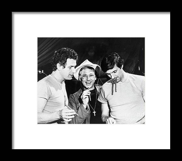 Smoking Framed Print featuring the photograph Scene From M*a*s*h by Bettmann