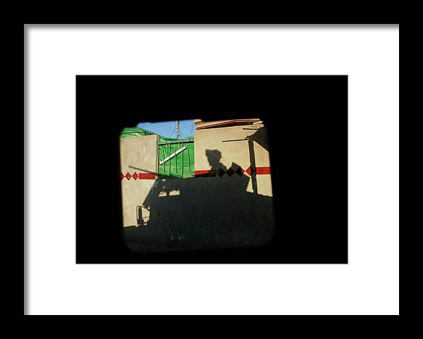Shadow Framed Print featuring the photograph Scenes From A Humvee Window In Baghdad by Chris Hondros