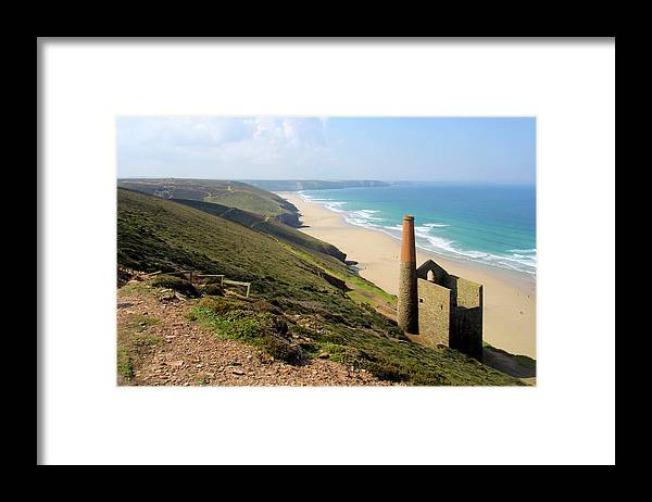 Water's Edge Framed Print featuring the photograph Scenic Cornwall - St Agnes Head by Chrisat