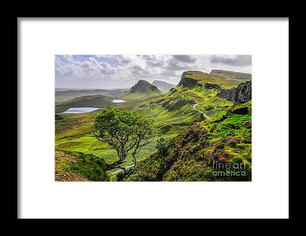 Cliffs Framed Print featuring the photograph Scenic View Of Quiraing Mountains by Martin M303
