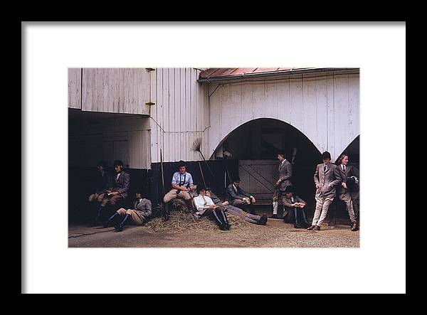 Horse Framed Print featuring the photograph School Riding by Slim Aarons